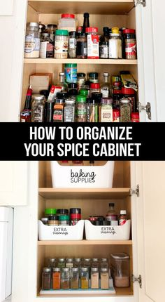 How to Organize Your Spice Rack How to organize your spice rack – the after. What I used, how I cleaned it all up.thirtyhandmad… - Gray N Black Organize Kitchen