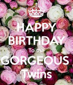 Happy birthday twins