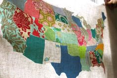 Just a beautiful wall quilt and I love the thought of using scrap fabrics for it.