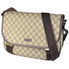 Pre-owned Gucci Pvc Gg Plus 201732 Messenger Shoulder Bag