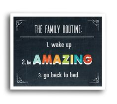 Family Routine Digital Download Print