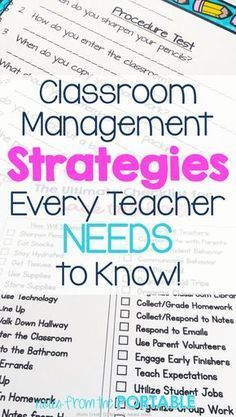 Classroom Management Tips for an Amazing School Year! Fabulous classroom management tips! These worked wonders for my classroom.Fabulous classroom management tips! These worked wonders for my classroom. Classroom Management Strategies, Management Books, Classroom Procedures, Classroom Ideas, Kindergarten Procedures, Preschool Classroom, Future Classroom, Business Management, Primary Classroom