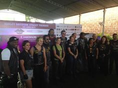 The Harley gang with their toys at the press conference of #HarleyStreetThunderSrilanka