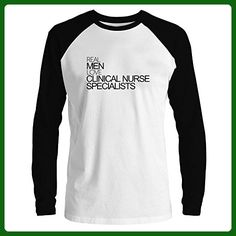 Idakoos - Real men love Clinical Nurse Specialists Raglan Long Sleeve T-Shirt - Careers professions shirts (*Amazon Partner-Link)