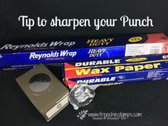 How to Sharpen your Punch (Frenchie Stamps) Scrapbook Cards, Scrapbooking Ideas, Customer Appreciation, Punch Out, Paper Punch, Card Making Techniques, Shaker Cards, Wax Paper, Product Information