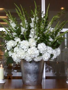 the 25 best ideas about gladiolus arrangements on Gladiolus Arrangements, Large Flower Arrangements, Wedding Flower Arrangements, Gladiolus Centerpiece, Church Flowers, Funeral Flowers, White Wedding Bouquets, Wedding Flowers, Wedding White