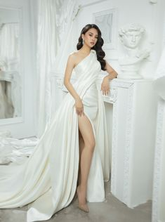 Blackpink Fashion, White Fashion, Asian Fashion, Pretty Outfits, Pretty Dresses, Beautiful Dresses, Glam Dresses, Girls Dresses, Fairytale Dress
