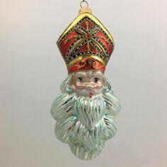 St. Nicholas Santa Claus head ornament glass Christmas tree | Etsy St Nicholas Santa Claus, Welcome December, Glass Christmas Tree Ornaments, Handmade Ornaments, Design Projects, Art Decor, Believe, Swarovski, Etsy