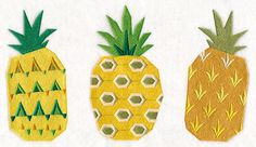 Tasty Trio - Pineapple design (M11525) from www.Emblibrary.com