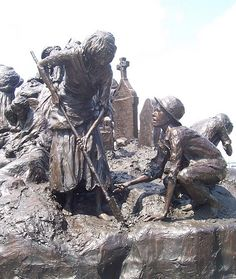 During the famine, over 1 million Irish died and another million ...