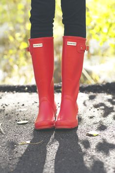 Red Hunters. Need some rain boots!!