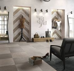 Porcelain stoneware wall/floor tiles NO_W by Flaviker Contemporary Eco Ceramics Jewellery Showroom, Tile Panels, Wall And Floor Tiles, Wall Tiles, Color Effect, Stone Flooring, White Marble, Stoneware, Gallery Wall