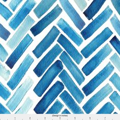 Blue Watercolor Fabric - Blue Herringbone Watercolor By Mrshervi - Blue Chevron Watercolor Cotton Fabric By The Yard With Spoonflower by Spoonflower on Etsy https://www.etsy.com/uk/listing/484352758/blue-watercolor-fabric-blue-herringbone