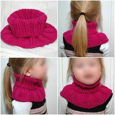 Superenkel hals pattern by Maja V. Loom Knit Hat, Loom Knitting, Knitted Hats, Knit Crochet, Crochet Hats, Kids Knitting Patterns, Knitting For Kids, Crochet Neck Warmer, Baby Barn