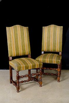 French Antique Louis XIII Style Dining Chairs