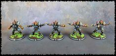 I have finished painting my Human Blood Bowl team, the Titan Bay Thunderhawks. I'm really happy with how the team has come out. Blood Bowl Teams, Blood Bowl Miniatures, Painting, Painting Art, Paintings, Painted Canvas, Drawings