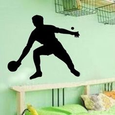 Ping-pong Athlete Move Freeze-frame Modern Wall Sticker