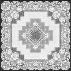 Filet Crochet Pattern www.filet-crochet-designs.com