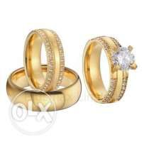 Weddings ring and engagement ring set