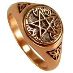 Tree Pentacle Wiccan Ring in Copper at Mystic Convergence - Wiccan Supplies, Pagan Jewelry, Witchcraft Supplies, New Age Store