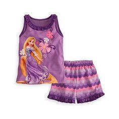 Rapunzel Pajamas Sleep Set for Girls ($19) ❤ liked on Polyvore featuring pajamas and baby girl
