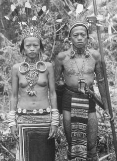 Dayak Royalty of Borneo