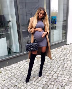 20 Stylish Maternity Outfit Ideas For Pregnant Women, Cute Maternity Outfits, Maternity Gowns, Stylish Maternity, Maternity Fashion, Maternity Clothing, Maternity Styles, Pregnant Outfits, Pregnancy Fashion, Winter Pregnancy Outfits