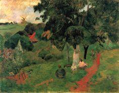 Paul Gauguin - Idas y venidas, Martinica (1887). Postimpresionismo. Óleo sobre lienzo de 72,5 x 92 cm. Museo Thyssen-Bornemisza (Madrid), España