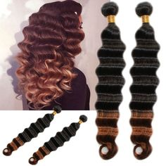 Grade 6a 1b30 ombre remy real human hair extension deep wave 1b30 ombre malaysian deep wave 100 real human hair extension remy hair pmusecretfo Gallery