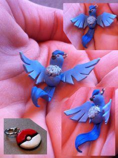 Articuno Pokemon Polymer Clay Charm