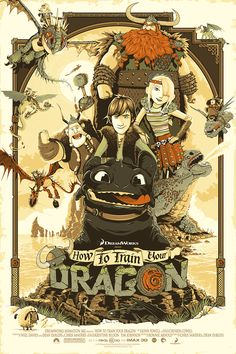 'This is Berk' - How to Train your Dragon Patrick Connan- Poster Artist & illustrator