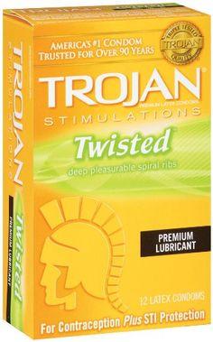 Trojan Condom Stimulations Twisted Pleasure Lubricated, 12 Count | Multi City Health  List Price: $10.99 Discount: $4.88 Sale Price: $6.11