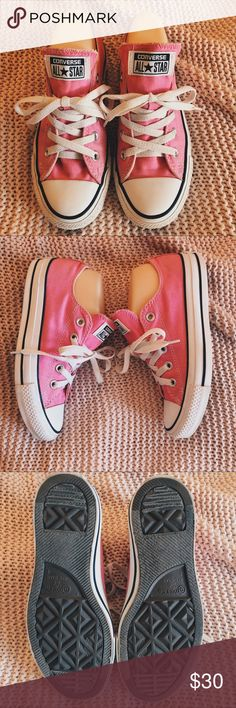 2a9556db817 Pink Converse ✨brand  Converse ✨description  Pink low top Converse ✨size