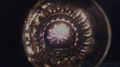 Nochevieja en la cueva, mientras el fuego nos calienta. Un caleidoscopio de estrella.