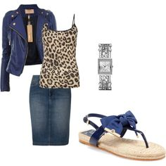 """""""Navy and Leopard"""" by enhoover on Polyvore"""