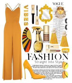 """Sunny Vibes"" by pulseofthematter ❤ liked on Polyvore featuring River Island, Casadei, Judith Leiber, IMAX Corporation, Miss Selfridge, Moschino, Yves Saint Laurent, Dolce&Gabbana, Battington and jumpsuits"