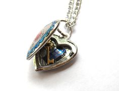 Doctor Who Heart of the Tardis Locket by TimeMachineJewelry