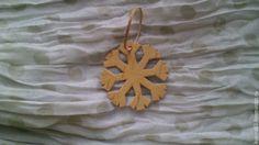 Купить снежинка №7 - бежевый, снежинка, елочные игрушки, елочные украшения, елочная игрушка