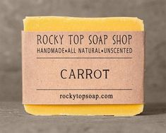 unscented carrot facial soap