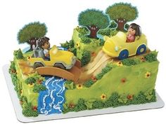Dora-Diego-at-play-time-cake-topper-by-decopac-multi-color