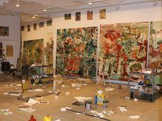 Het atelier van Cecily Brown in New York, 2011. (bron: IOdonna )
