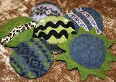 make kitty toys from old sweaters. Free patterns and how to.