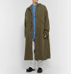 Take advantage of the end of the fall-winter 2019 season and enjoy discounted prices on designer fashions that are part of Mr Porter's holiday sale. The Fashionisto, Satin Bomber Jacket, Men's Coats, Hooded Parka, Mr Porter, Double Breasted, Military Jacket, Raincoat, Fall Winter
