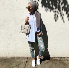 64 hijab with jeans – modest hijab jeans outfits this season Modest Casual Outfits, Casual Hijab Outfit, Modest Wear, Jean Outfits, Simple Outfits, Hijab Chic, Summer Outfits, Street Hijab Fashion, Muslim Fashion