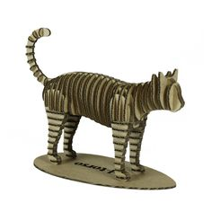Foreign Affairs 401004114 3D Cardboard Animal Cat Puzzle