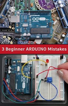 3 Beginner Arduino Mistakes In my decade of experience building with and teaching Arduino, I see three mistakes more often than any others. Find out what they are! Arduino Cnc, Arduino Programming, Arduino Board, Electronic Engineering, Electrical Engineering, Diy Electronics, Electronics Projects, Computer Robot, Arduino Beginner