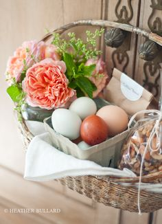 LOVE this May Day basket!  I always used to give May Day baskets as a child...I may begin again!