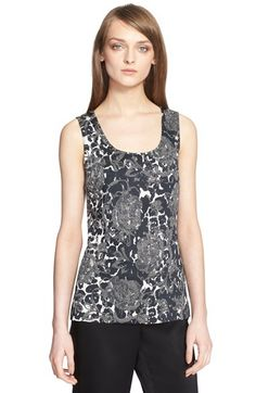 St. John Collection Leopard & Floral Print Knit Shell available at #Nordstrom