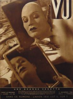Vu magazine (1929) cover by Man Ray A style and society title that contained fantastic reportage photography, founded by Lucien Vogel