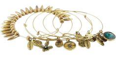 Bohemian Styled Charm Bangle Bracelets